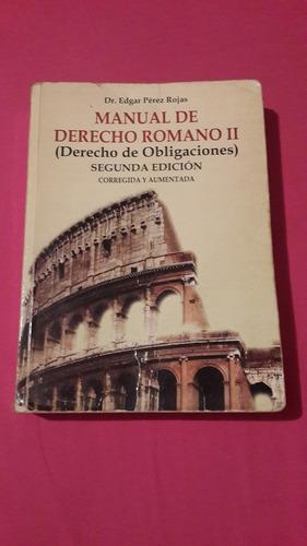 libros de derecho romano