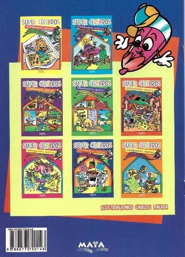 libros de entretenimiento infantil - super cerebros x4