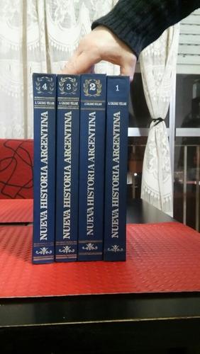 libros de historia argentina 4 tomos impecables!