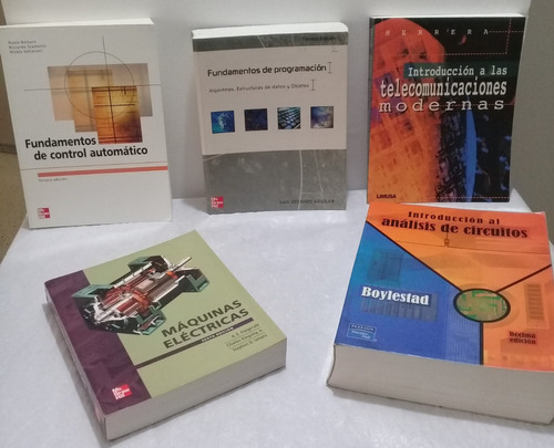 libros de ingeniería electrónica(varios precios: consultar)