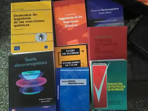libros de ingenieria, fisica, quimica y matematicas