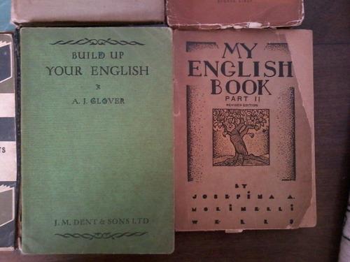 libros de inglés antiguos - lote