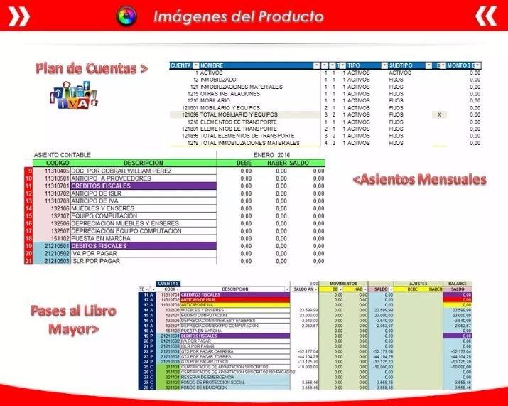 Libros De Iva Compras Ventas Resumen Contabilidad N Excel - $ 75,00 ...