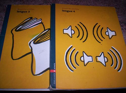 libros de lengua proyecto alavista 3 y 4 ( precio x ambos)