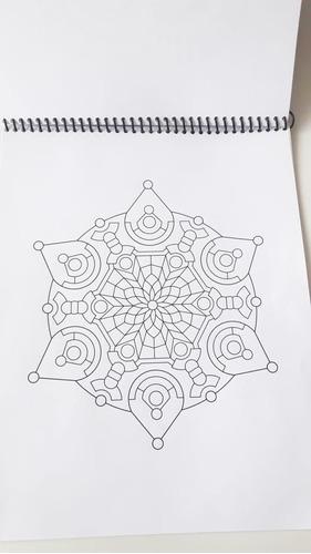 libros de mandalas para colorear en croquera con espiral