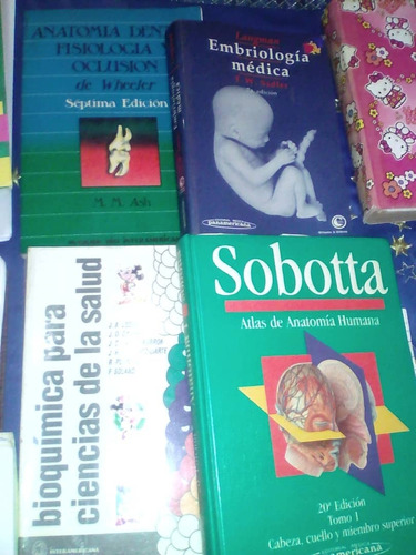 libros de odontologia usados 1er y 2do año rebaja 20v