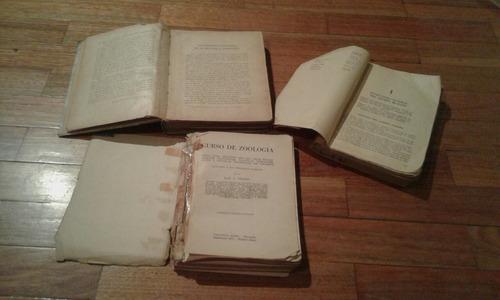 libros de zoología y anatomia lote por 4 a $420