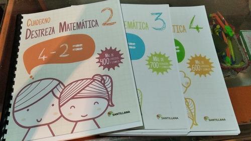 libros destreza matemática en pack 2, 3., 4, 5