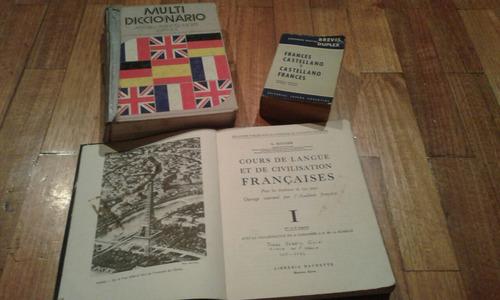 libros en francés lote por 3 a $399,99