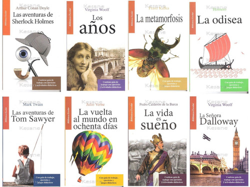 libros escolares paquete 12 libros juveniles didacticos