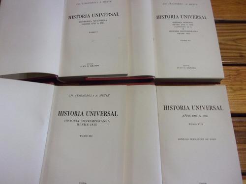 libros historia universal - 8 tomos