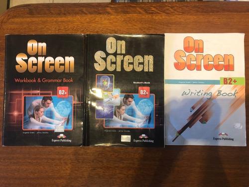 libros inglés on screen workbook writing students book usado