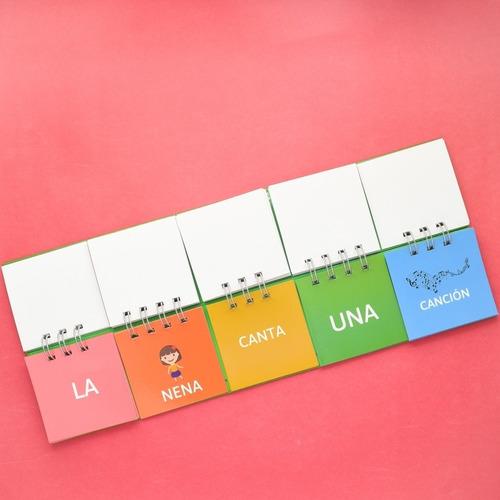 libros móviles x 5 - juguetes didácticos para niños