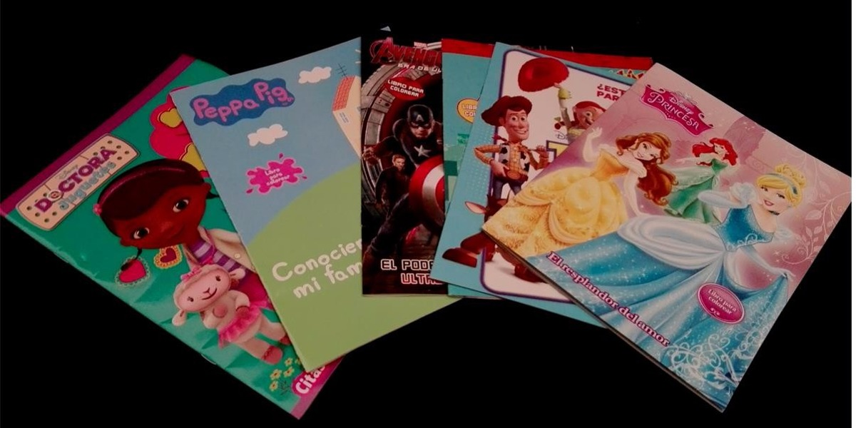 Libros Para Colorear Caja Con 100 Pzas Envio Gratis
