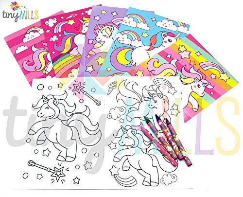 Libros Para Colorear De Unicornio Con Crayones Favores De Fi ...