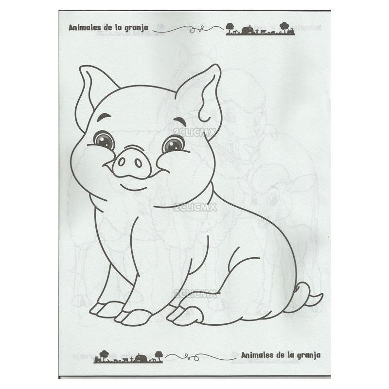 Libros Para Colorear Infantiles Animales De La Granja Fiesta ...