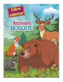 Libros Para Colorear Infantiles Animales Del Bosque Fiesta
