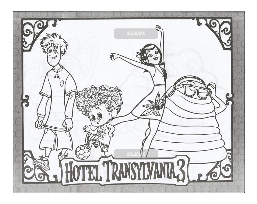 Libros Para Colorear Infantiles Hotel Transilvania 3 Verano