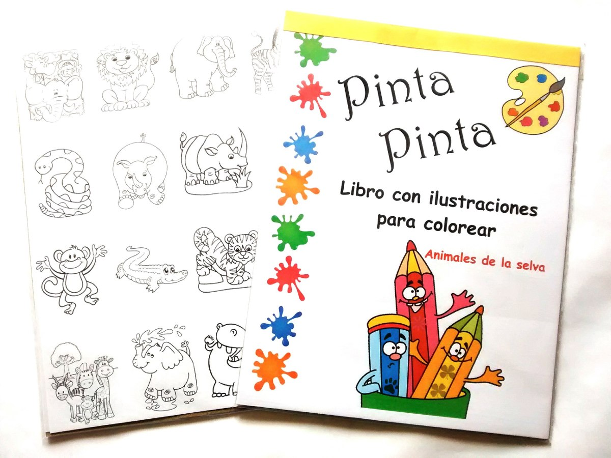Libros Para Colorear, Princesas Animales Del Mar Y La Selva - Bs ...