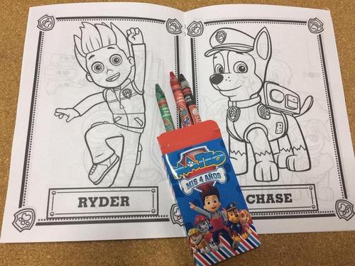 Libros Para Colorear Souvenirs Patrulla Canina + Crayon X30 ...