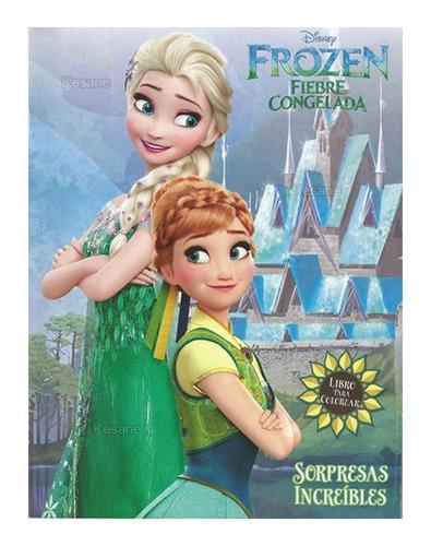 libros para iluminar frozen  fiebre bolo fiestas colorear