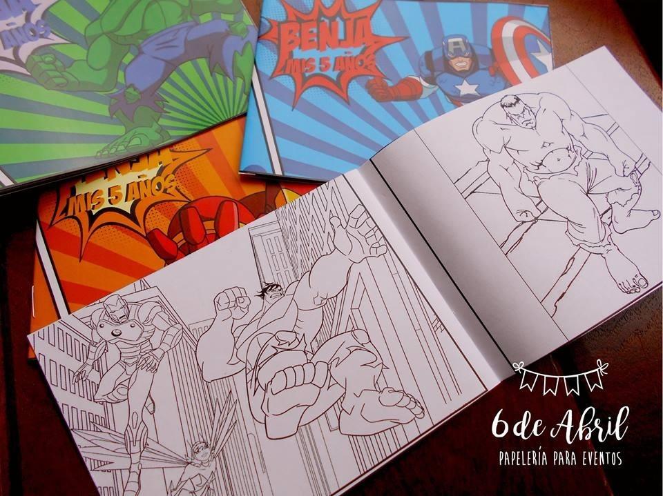 Libros Para Pintar Personalizados Avengers Vengadores Peppa - $ 25 ...