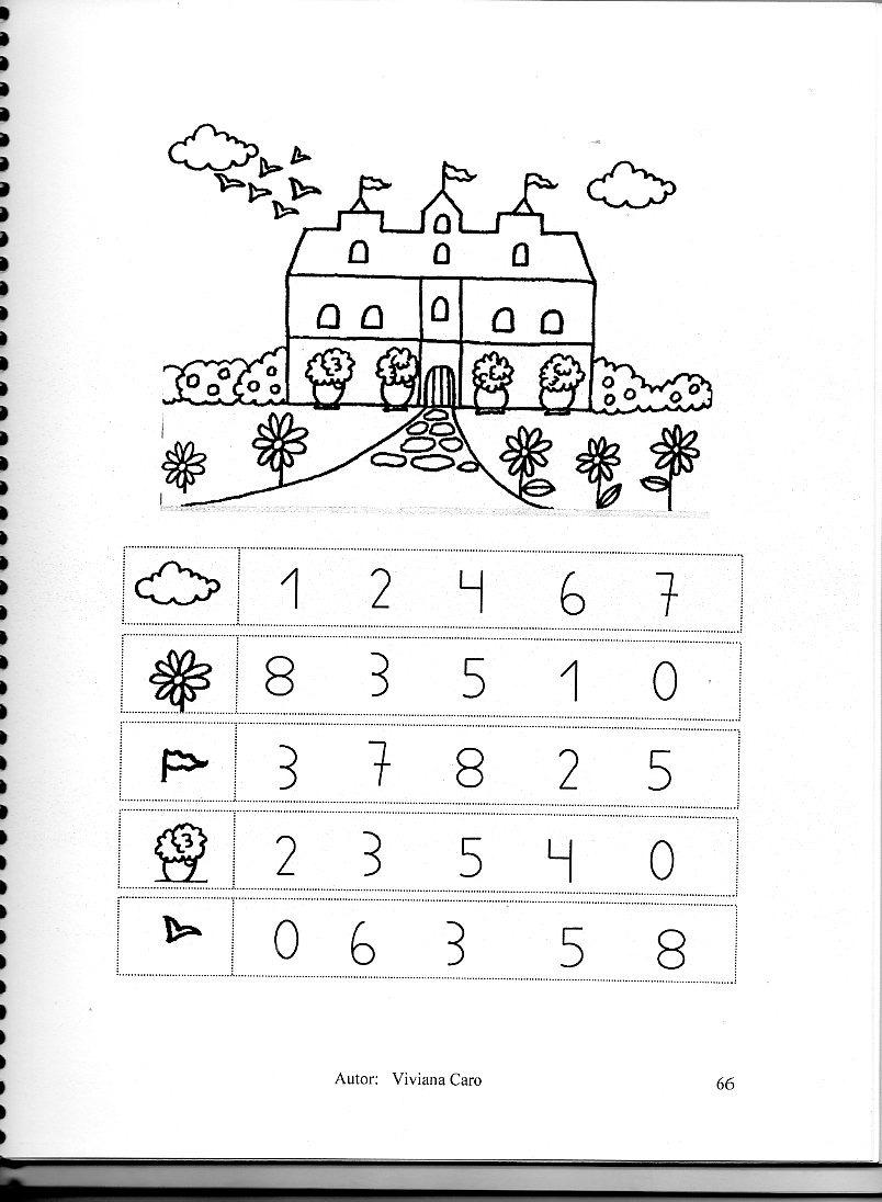Libros Preescolares Dibujos Pintar Matemática Avanzada