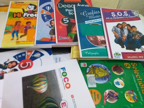 libros: santillana corefo, lexicom, arca de papel, etc