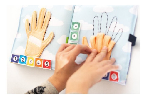 libros sensoriales de tela - libro de actividades 1