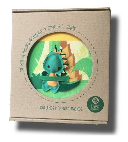 libros sensoriales. tierra de dinosaurios. didáctico de tela