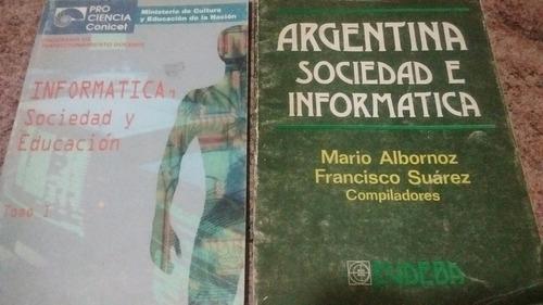 libros sociedad informática educación. conicet - eudeba