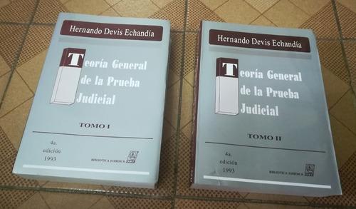 libros teoría general de la prueba judicial (tomos 1 y 2)