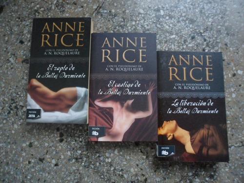 libros trilogia la bella durmiente anne rice