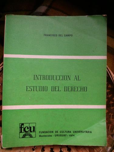 libro/texto derecho. del campo