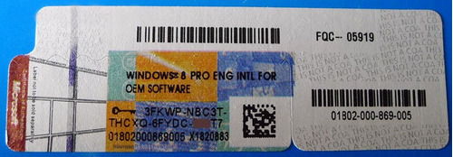 licença windows 8 professional 32/64 bits