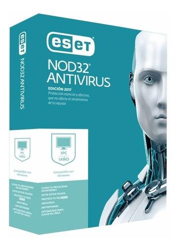 licencia antivirus eset nod32 para 1 equipo anual windows