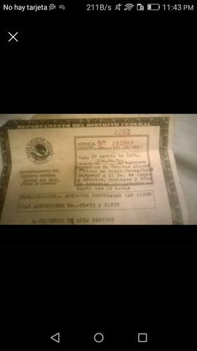 licencia de abarrotes carnes frías vinos y licores
