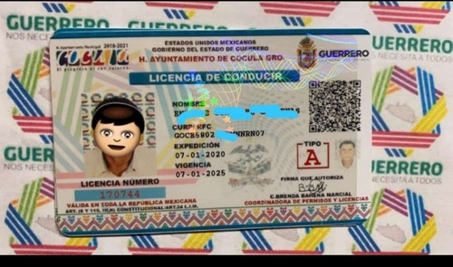 licencia de conducir chófer,  automovilista y motociclista