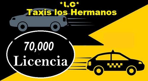 licencia de taxi $70.000