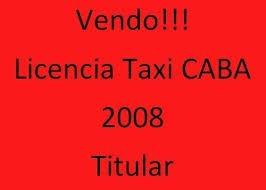licencia de taxi caba  2010 (c)