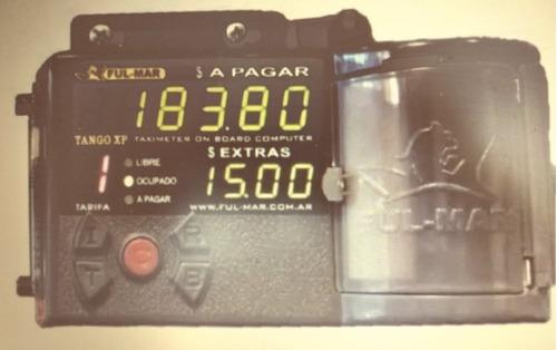licencia de taxi con reloj