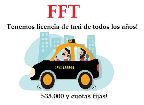 licencia de taxi desafectada y libre de deuda