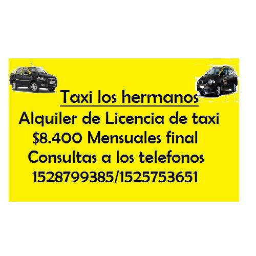 licencia de taxi en alquiler