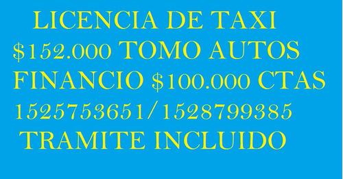 licencia de taxi semanal $2100