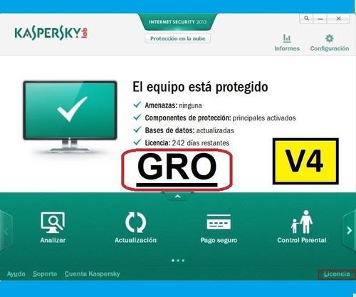 licencia kaspersky gro v4