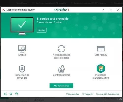 licencia kaspersky internet security 2019 3 pc 1año original