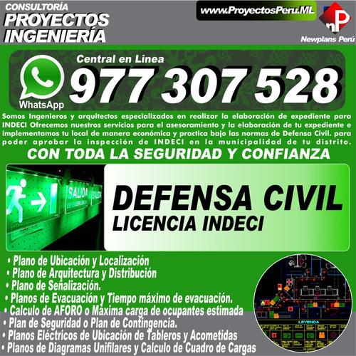 licencia municipal planos evacuacion señalizacion electrico