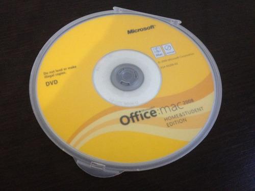 licencia office 2008 para 1 mac original en cd
