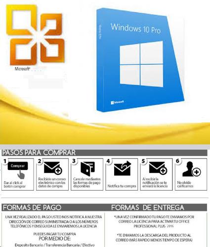 licencia retail windows 10 pro 32 o 64 bit