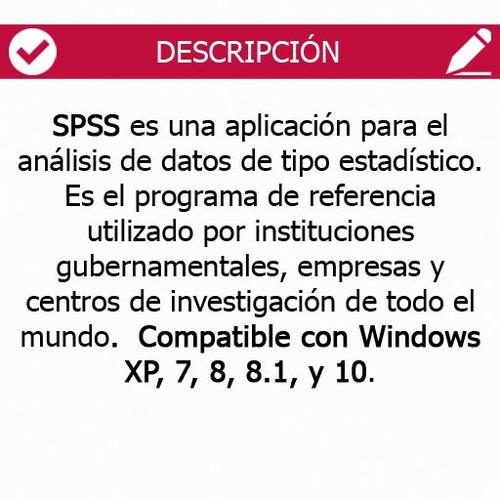 licencia spss estadistica 24 - 32bits y 64bits